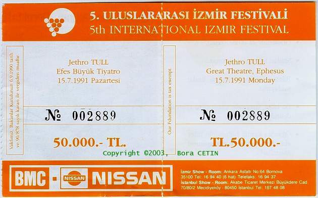 TULL Efes Ticket 1991