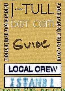 My  ORIGINAL TULL Passcard in 2000