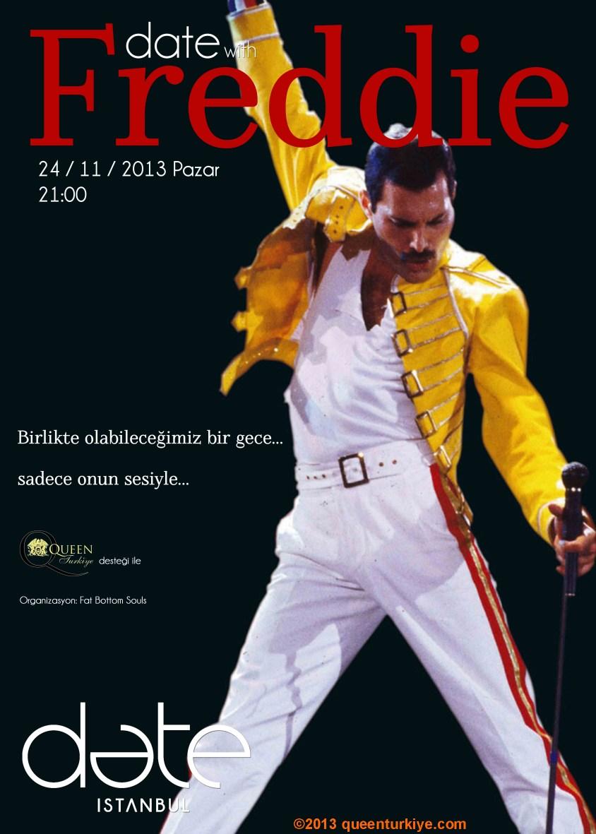 Freddie Mercury Memorial Day 2013, Date With Freddie Turkiye Poster